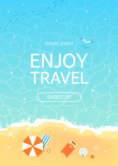 Time to Travel and Summer Holiday illustration