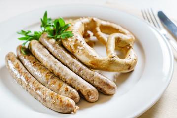 sausage and bretzel