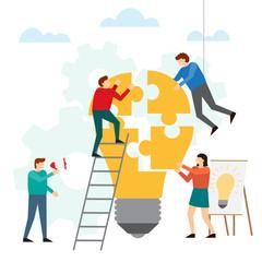 Brainstorm and creative idea concept
