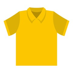 Clean t shirt icon. Flat illustration of clean t shirt vector icon for web