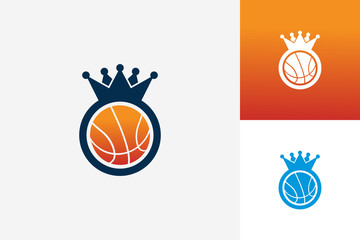 King Basketball Logo Template Design Vector, Emblem, Design Concept, Creative Symbol, Icon