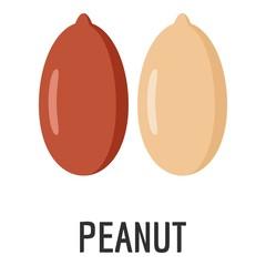 Peanut icon. Flat illustration of peanut vector icon for web