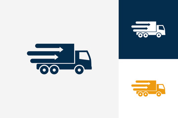 Arrow Truck Logo Template Design Vector, Emblem, Design Concept, Creative Symbol, Icon