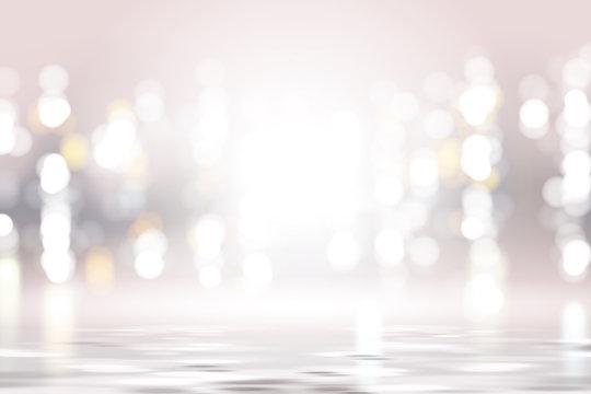 Silver pink bokeh background