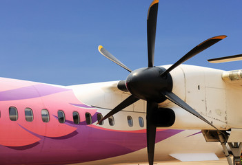 Propeller Plane Close Up