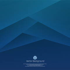Abstract of 3d blue paper cut background. Designing for your business presentation. illustration vector eps10