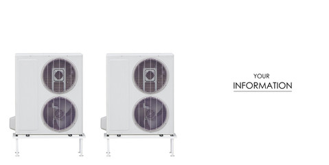 Two air conditioners outside pattern