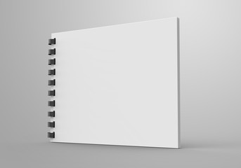 Spiral notebook in 3d render