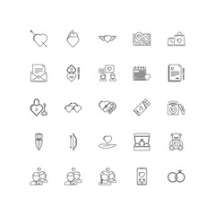 love outline icons 25