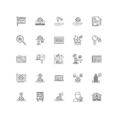 real estate outline icons 25