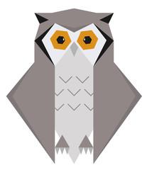 Owl Geometric Polygon Design
