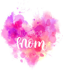 I love you mom heart