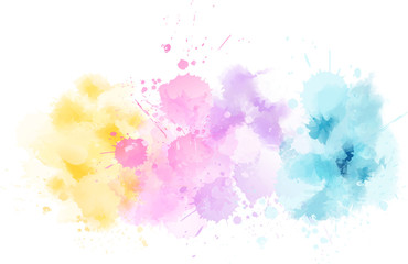 Watercolor light line