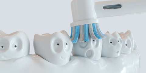 Tooth human cartoon - 3D Rendering