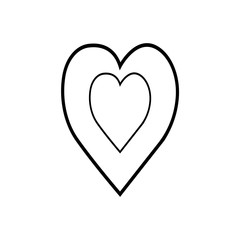 heart love icon isolated on white background