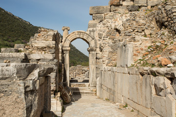 the ancient Roman city of Ephesus