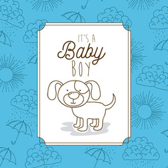 its a baby boy frame with dog