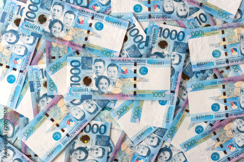 Photo of money in cash of one thousand philippines peso