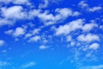 Blue sky with cloud closeup.