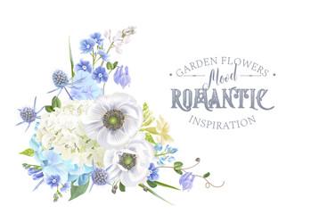 Blue flower composition 2