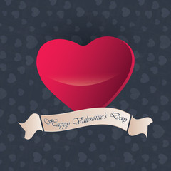 nice and beautiful abstract or poster for Valentine's Day with nice and creative design illustration in background.