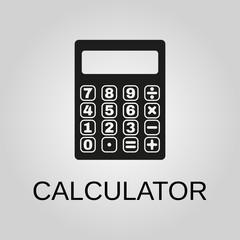 Calculator icon. Calculator symbol. Flat design. Stock - Vector illustration