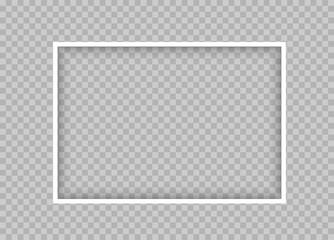 white thin rectangular frame with shadow