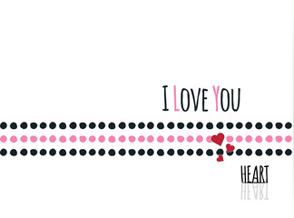 I love you.heart.Fashion funny slogan with a cherry patch for t-shirt and clothing graphic vector Print.vector illustration.