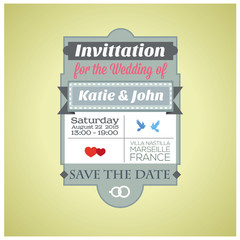 Invitation for the Wedding.