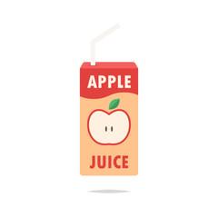 Apple juice box vector