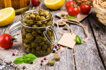 Traditional marinated capers