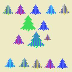 Spruce stripe Christmas  pattern .