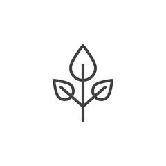 Beech tree leaves outline icon. linear style sign for mobile concept and web design. Leaf simple line vector icon. Symbol, logo illustration. Pixel perfect vector graphics