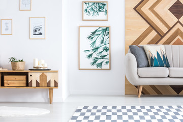 Rustic living room interior