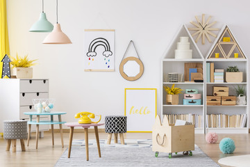 Colorful child's playroom interior