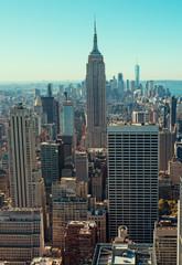 Photo sur Aluminium New York View of Manhattan skyline in New York