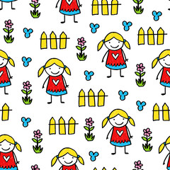 Vector kids pattern
