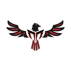eagle logo design with wing
