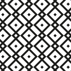 Geometric seamless Vector Pattern. Black and white Background.