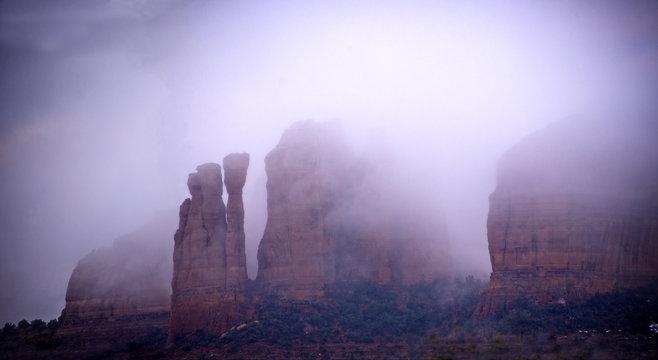 Winter fog in Sedona