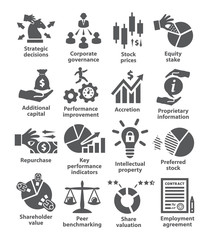 Business management icons Pack 42
