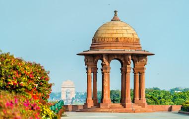 Canopy of the North Block of the Secretariat Building in New Delhi, India