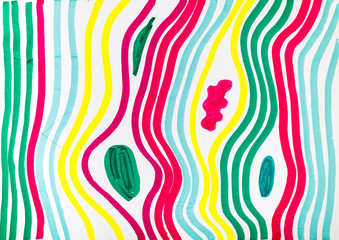 abstract pattern by multicoloured felt-tip pen