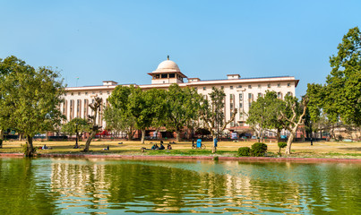 View of Krishi Bhavan, a governmental building in New Delhi, India