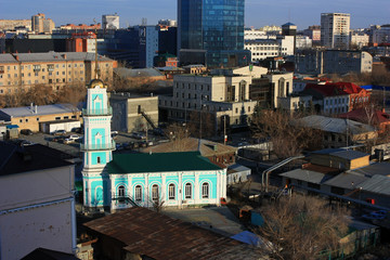 Moslem mosque in the city