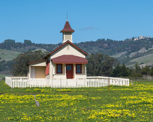 Old school house San Simeon California