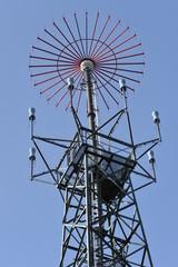 Sendeanlage auf der Neunkirchener Höhe im Odenwald, Hessen, Deutschland
