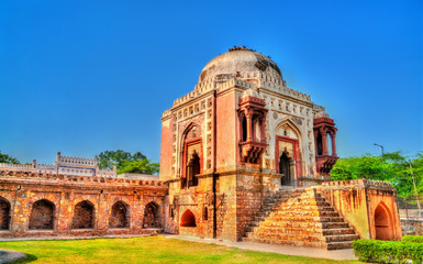 Madhi Mosque in Mehrauli Archaeological Park in Delhi, India