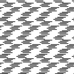 Geometric, abstract seamless pattern. Black stripes on a white background.Texture for fabric and backgrounds .Vector illustration.