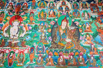 Poster Graffiti Inside buddhist temple